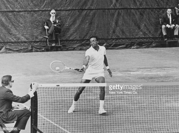 "arthur ashe a tennis player On july 5, 1975, arthur ashe beat heavily-favored jimmy connors to become  "" it was a great tennis player's instrument,"" says jane rogers,."