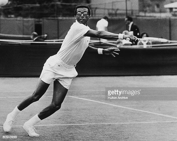 American tennis player Arthur Ashe competing in London 17th June 1968