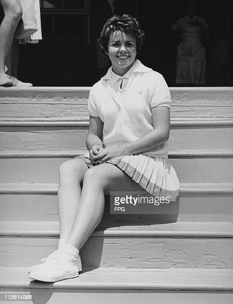 American tennis player Billie Jean Moffitt circa 1963