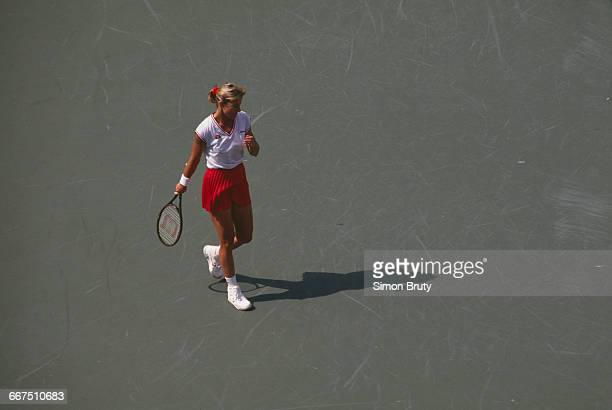 American tennis player Chris Evert competing at the US Open held at the USTA National Tennis Center in New York City AugustSeptember 1989 Evert...