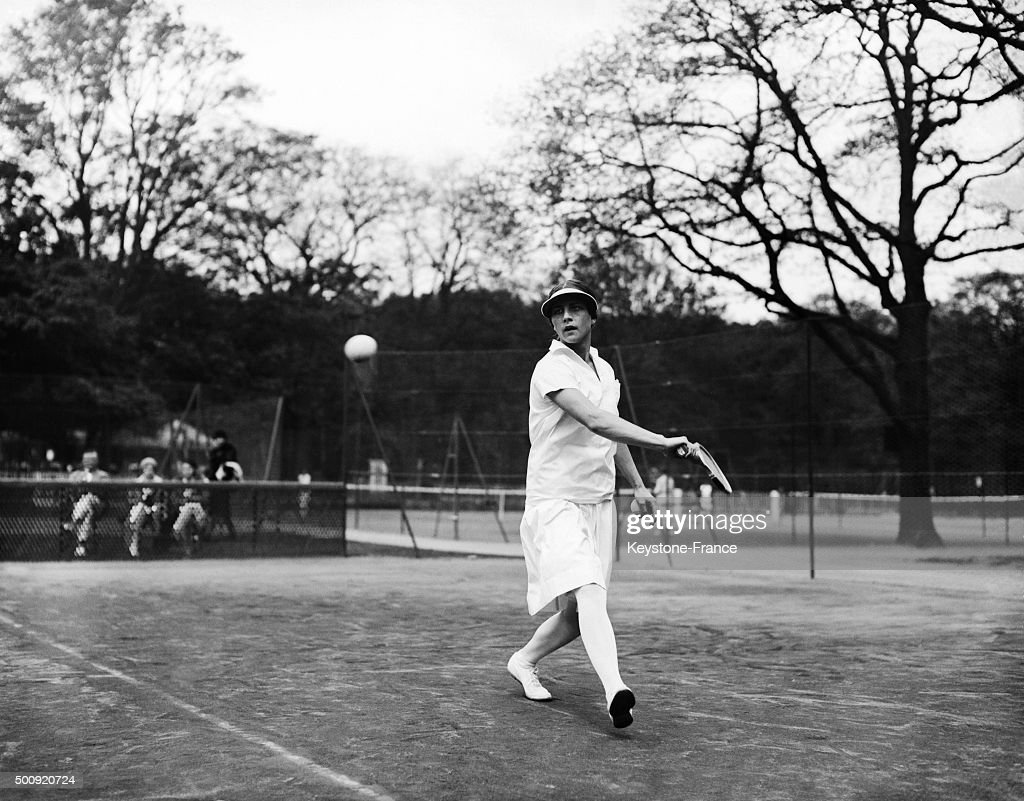 American tennis player Helen Wills in Paris