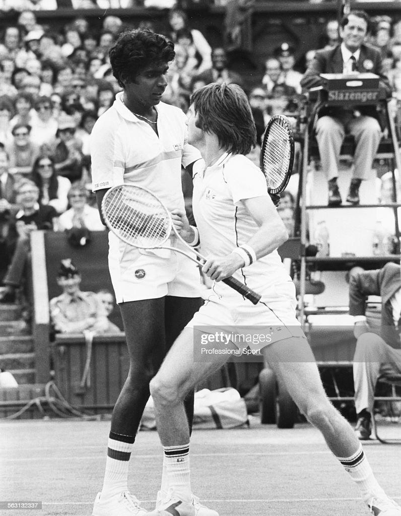Vijay Amritraj And Jimmy Connors At Wimbledon