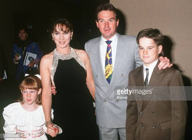 American tennis player Jimmy Connors with his family circa 1992