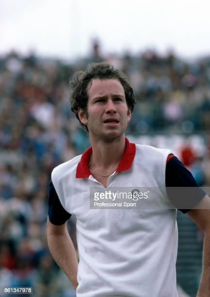 John McEnroe of the USA during the US Open at the USTA National Tennis Center circa August 1981 in Flushing Meadow New York USA