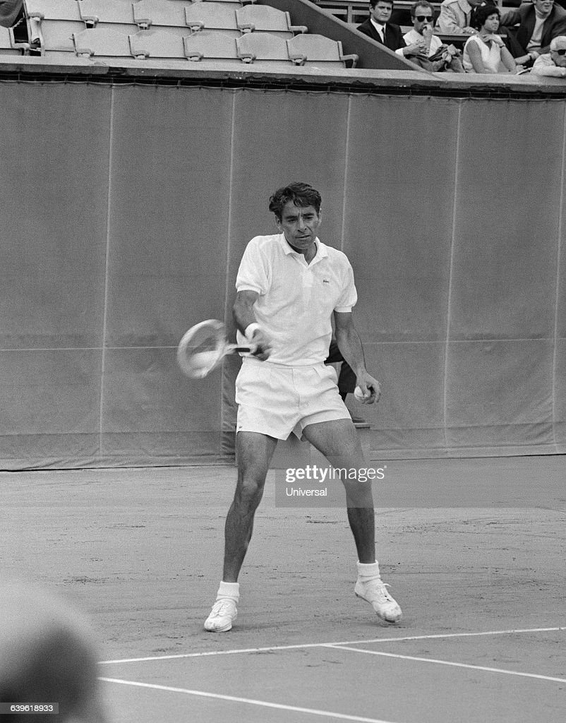 Tennis Player Pancho Gonzales Stock s and