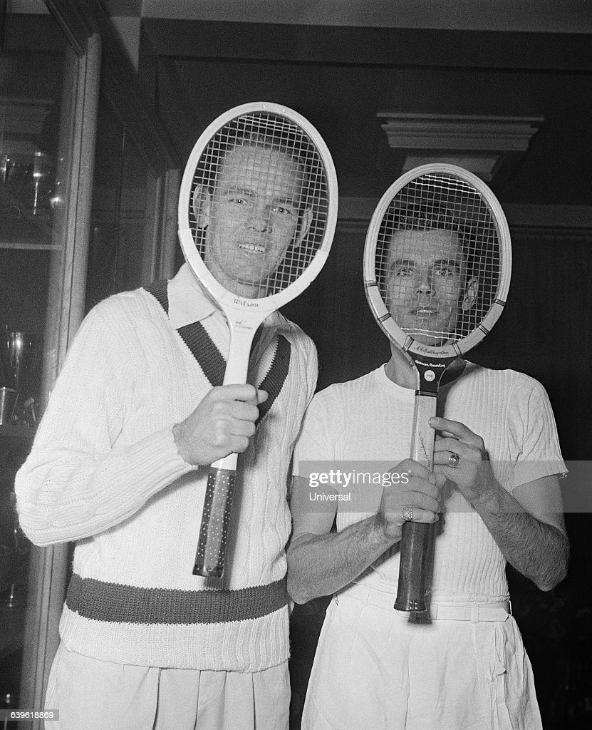 Tennis Jack Kramer and Frank Parker