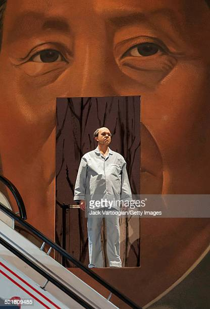 American tenor Robert Brubaker performs in the Metropolitan Opera/Peter Sellars production of 'Nixon in China' at the final dress rehearsal prior to...