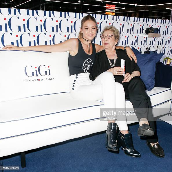 American Topmodel Gigi Hadid and her grandmother attend the Bread Butter by Zalando at arena Berlin on September 2 2016 in Berlin Germany