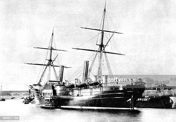 American transatlantic steamship 'Arago' 1856 Pictured at the port of Le Havre France