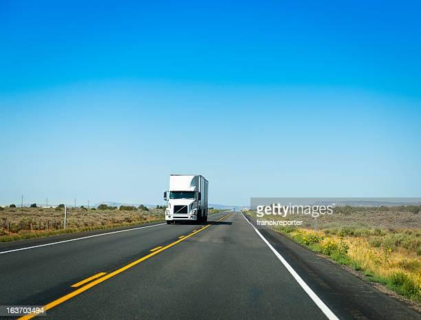 American camion sur la route 66, États-Unis
