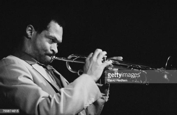 American trumpeter composer and bandleader Woody Shaw performing circa 1980