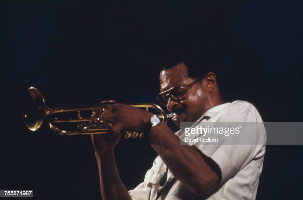 American trumpeter composer and bandleader Woody Shaw performing circa 1985