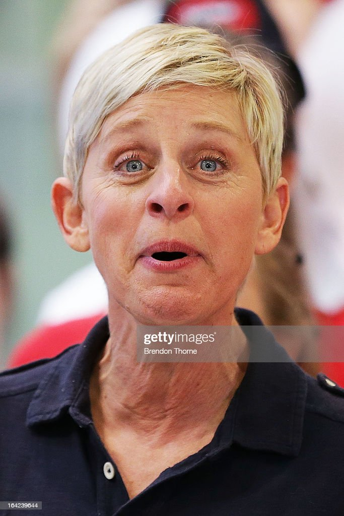 American TV personality <a gi-track='captionPersonalityLinkClicked' href=/galleries/search?phrase=Ellen+DeGeneres&family=editorial&specificpeople=171367 ng-click='$event.stopPropagation()'>Ellen DeGeneres</a> arrives at Sydney Airport on March 22, 2013 in Sydney, Australia. DeGeneres is in Australia to film segments for her TV show, 'Ellen'.