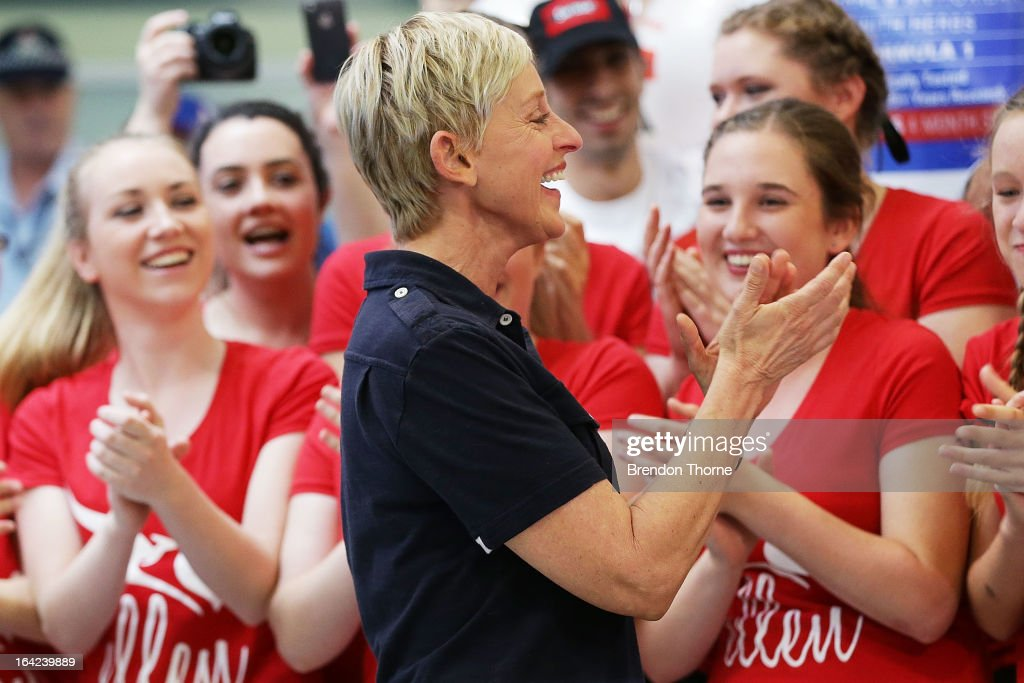 American TV personality Ellen DeGeneres arrives at Sydney Airport on March 22, 2013 in Sydney, Australia. DeGeneres is in Australia to film segments for her TV show, 'Ellen'.