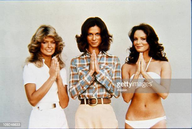 American TV Series Cast Of 'charlie's Angels' Left to Right FARRAH FAWCETTMAJORS KATE JACKSON and JACLYN SMITH American Actresses