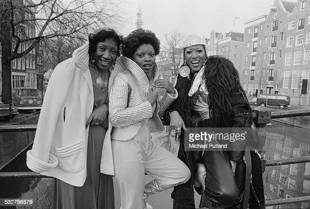 American vocal group Labelle in Rotterdam Netherlands 24th February 1975 Left to right Patti LaBelle Sarah Dash and Nona Hendryx