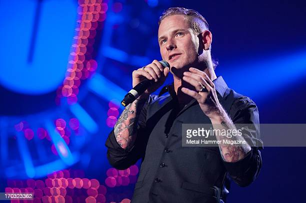 American vocalist Corey Taylor of Slipknot and Stone Sour performing live onstage during the Marshall 50 Years Of Loud anniversary concert at Wembley...