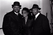 Jimmy Jam Janet Jackson and Terry Lewis circa 1996 in New York City