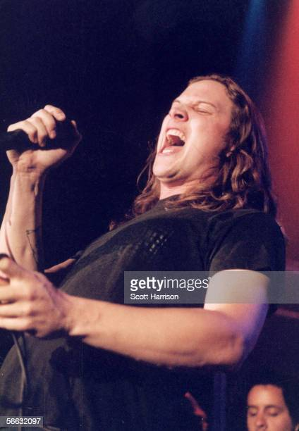 American vocalist Kevin Martin singer for the popular rock and roll group Candlebox performs onstage in support of his band's third album at the...