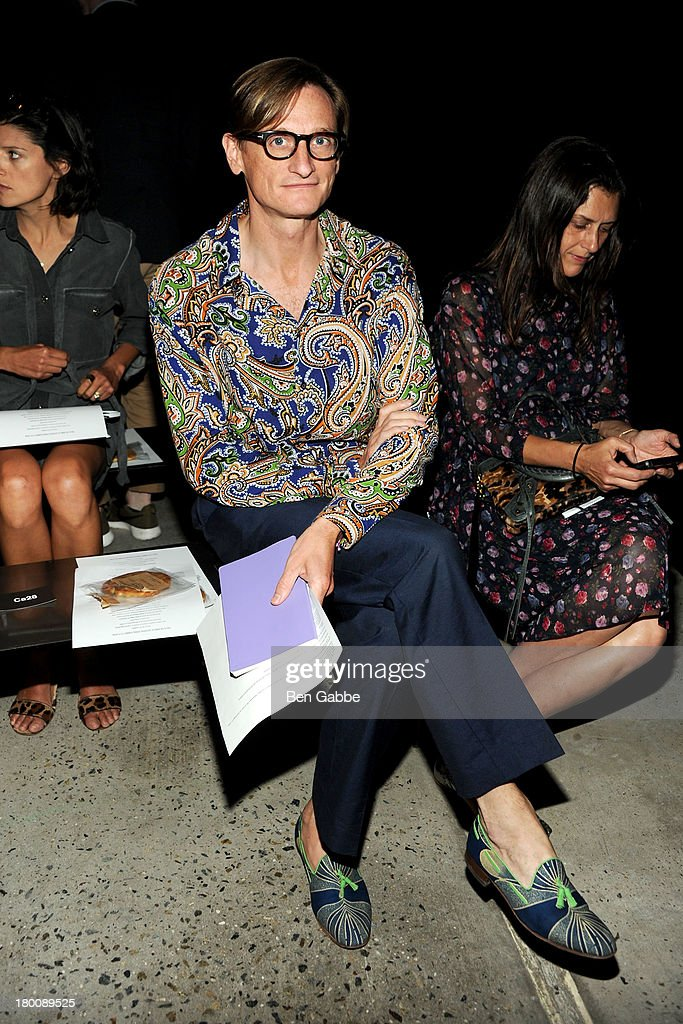 American Vogue editor-at-large Hamish Bowles attends Band Of Outsiders Women's during Mercedes-Benz Fashion Week Spring 2014 on September 8, 2013 in New York City.
