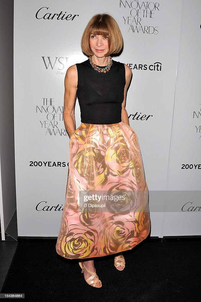 American Vogue editor-in-chief Anna Wintour attends the 2012 WSJ. Magazine 'Innovator Of The Year' Awards at the Museum of Modern Art on October 18, 2012 in New York City.
