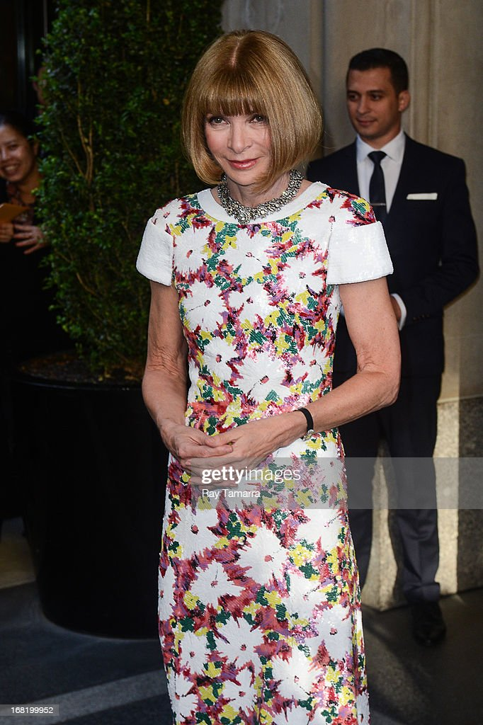 American Vogue Editor-in-chief Anna Wintour leaves her Upper East Side hotel on May 6, 2013 in New York City.