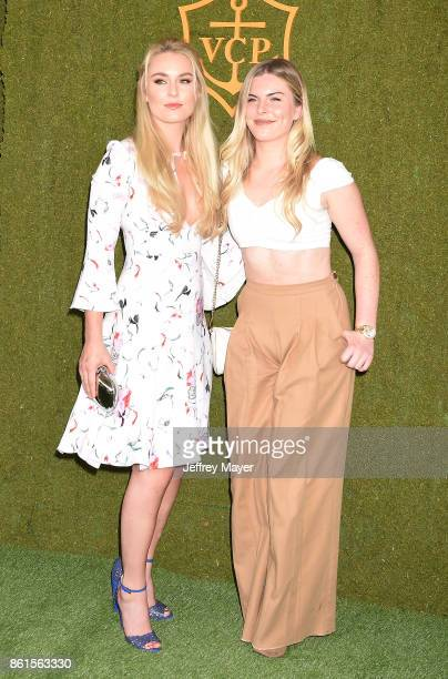 American World Cup alpine ski racer Lindsey Vonn and sister Karin Kildow attend the 8th Annual Veuve Clicquot Polo Classic at Will Rogers State...