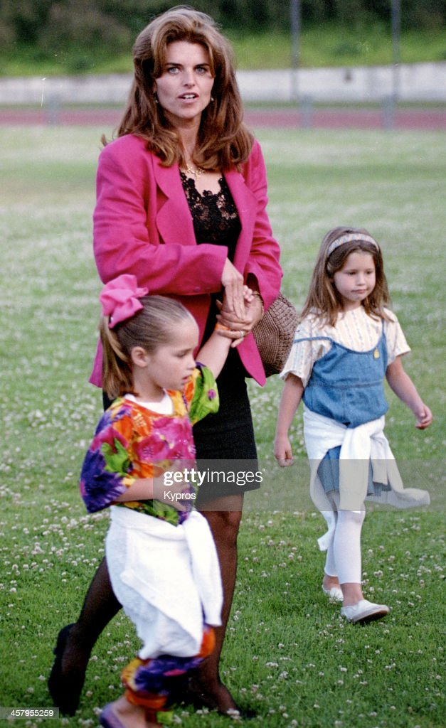 American writer and journalist Maria Shriver with her children circa 1993
