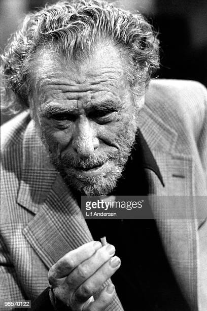 American writer and poet Charles Bukowski appears on talk show 'Apostrophes' on September 21 1978 in ParisFrance