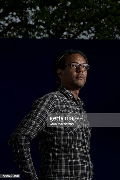 American writer Colson Whitehead pictured at the Edinburgh International Book Festival where he talked about his latest book entitled 'Zone One' The...
