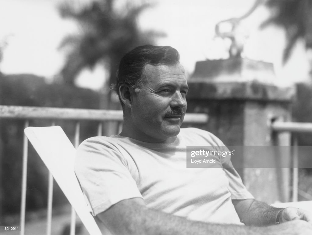 American writer <a gi-track='captionPersonalityLinkClicked' href=/galleries/search?phrase=Ernest+Hemingway&family=editorial&specificpeople=93360 ng-click='$event.stopPropagation()'>Ernest Hemingway</a> (1899 - 1961), in Cuba, July 1940.