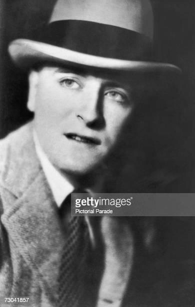 American writer F Scott Fitzgerald wearing a hat late 1920s