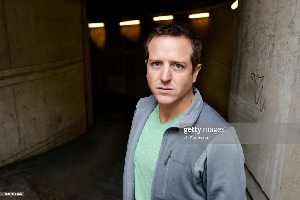 American writer Hugh Howey poses during a portrait session held on October 14, 2013 in Paris, France.