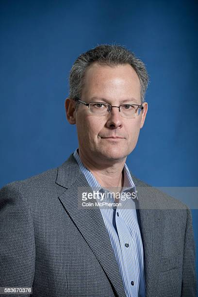 American writer Nicholas Carr pictured at the Edinburgh International Book Festival where he talked about his latest writing on technology and the...