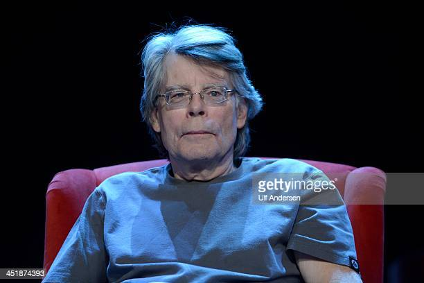 American writer Stephen King poses during a portrait session held on November 16 2013 in Paris France