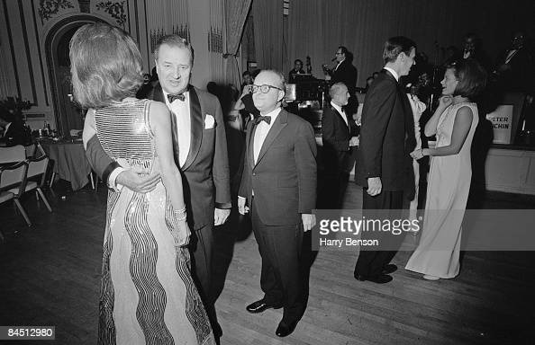 American writer Truman Capote at his BlackandWhite Ball in the Grand Ballroom of the Plaza Hotel New York City 28th November 1966 At the far left is...