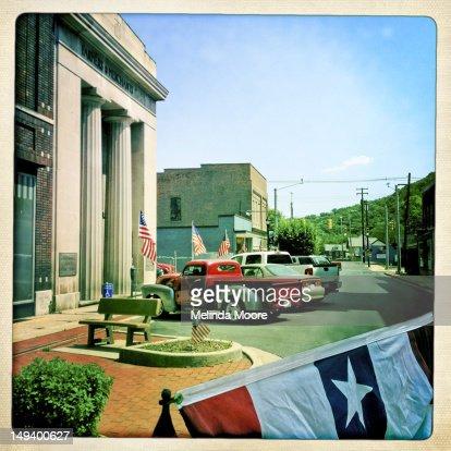 Americana Patriotic street : Stock Photo