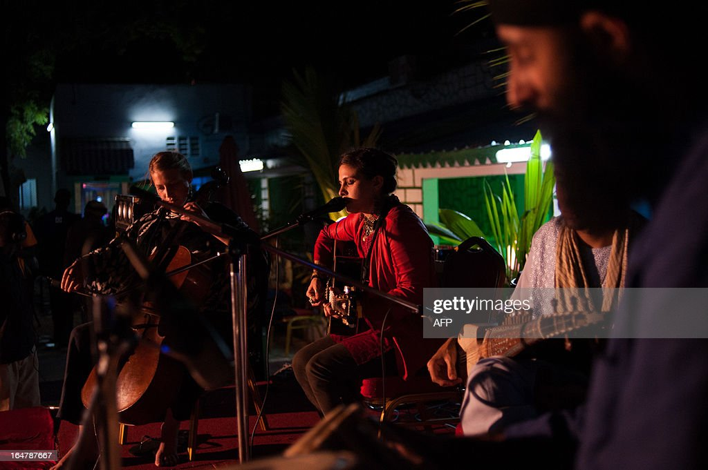 American-Afghani singer Ariana Delawari performs at the opening concert in the Mogadishu Music Festival in the Somali capital on March 27, 2013. The festival is the first international music event to be held in the city since the outbreak of civil war in 1991, bringing together acts from seven countries.