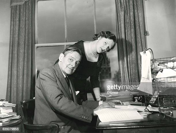 Americanborn British poet playwright and essayist T S Eliot with his second wife Valerie Eliot 16th August 1958