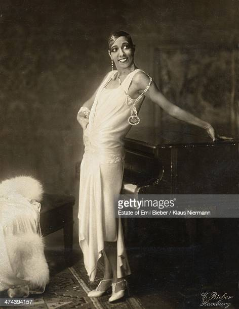 Americanborn French dancer singer and actress Josephine Baker Hamburg 1925