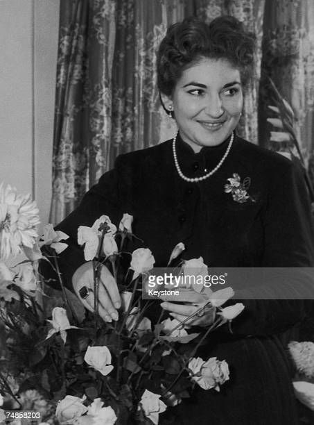 Americanborn Greek opera singer Maria Callas at the Royal Opera House in Covent Garden after a successful performance in the Bellini opera 'Norma'...