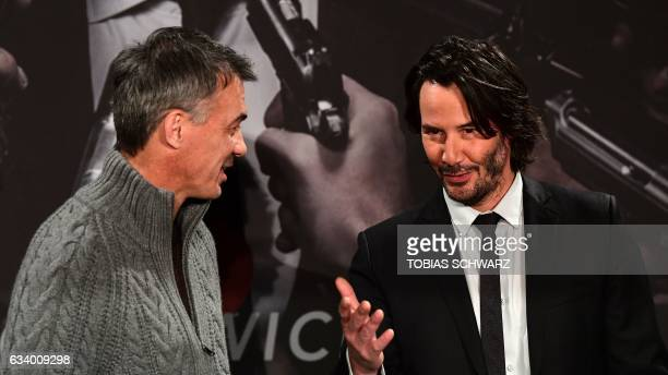 AmericanCanadian Actor Keanu Reeves and film director Chad Stahelski pose during a photo call to present their film 'John Wick Chapter 2' in Berlin...