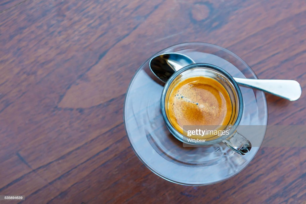 Americano coffee cup on table in cafe : Stock Photo