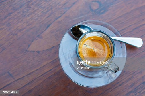 Americano coffee cup on table in cafe : Bildbanksbilder