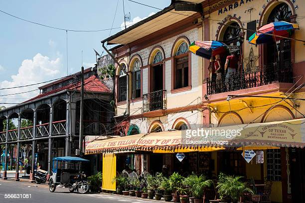 Americanstyle bar and Iron Building Iquitos Peru Reputed to be designed by Gustave Eiffel