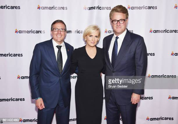 Americares CEO Michael J Nyenhuis and Cohosts Mika Brzezinski and Joe Scarborough attend the 2017 Americares Airlift Benefit at Westchester County...