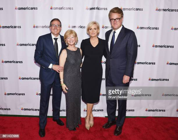 Americares CEO Michael J Nyenhuis Sandy Nyenhuis and Cohosts Mika Brzezinski and Joe Scarborough attend the 2017 Americares Airlift Benefit at...