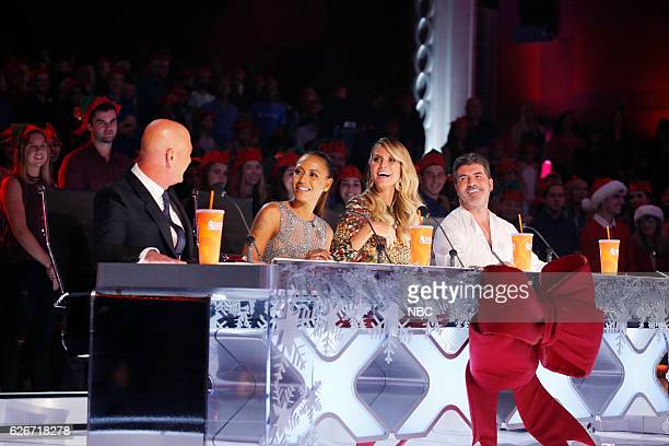 S GOT TALENT 'America's Got Talent Holiday Spectacular' Pictured Howie Mandel Mel B Heidi Klum Simon Cowell