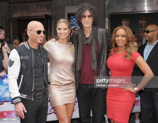 'America's Got Talent' judges Howie Mandel Heidi Klum Howard Stern and Mel B attend the 'America's Got Talent' Season 8 Meet The Judges Red Carpet...