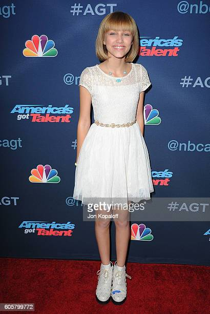 America's Got Talent winner Grace VanderWaal arrives at 'America's Got Talent' Season 11 Finale Live Show at Dolby Theatre on September 14 2016 in...